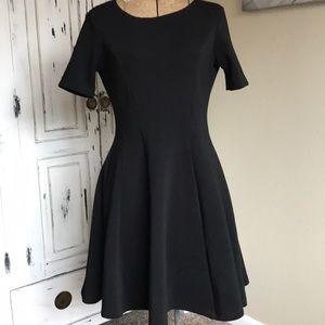 ASOS black classy dress 👗 fit & flare size 8